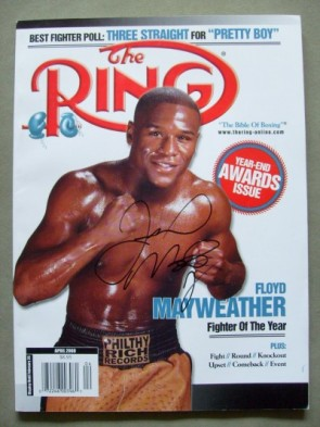In 1998 Mayweather joined Sugar Ray Robinson and Muhammad Ali to become the youngest recipient of the Ring Magazine Fighter of the Year Award