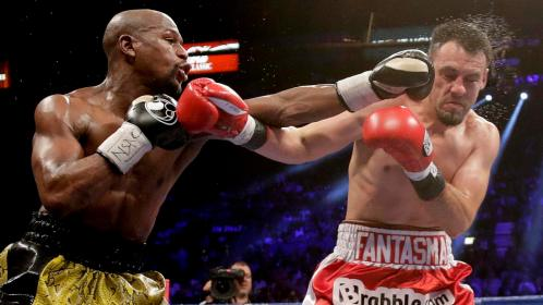 Mayweather is able to land consistently with a sharp, accurate jab much to the surprise of his many opponents